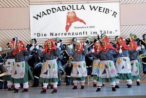 Waddabolla-Weibr. Narrenzunft, Auftritt, Tanz